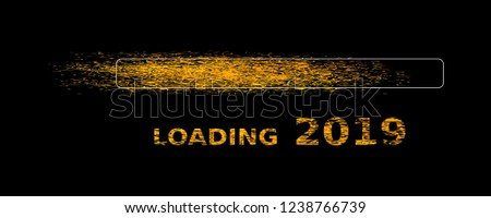 loading new year 2019 silvester