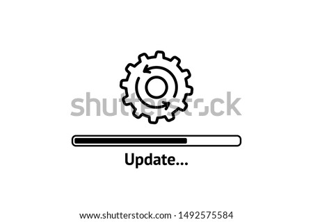 Loading process. Update system icon. Concept of upgrade application progress icon for graphic and web design. Upgrade Update system icon. stock photo