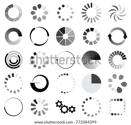 loading sign icon set for internet upload and download symbow