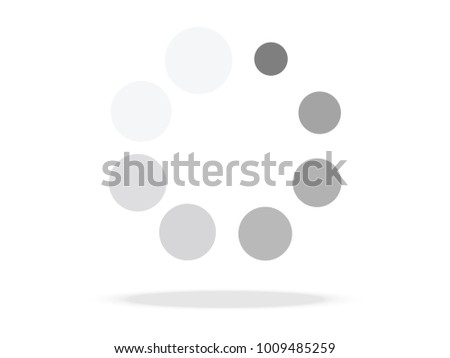 Loading symbol. Abstract spinner icon for web page design. Vector illustration.