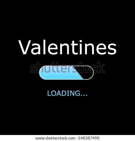 LOADING Valentines Illustration