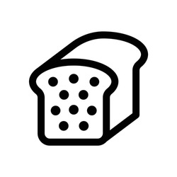 Loaf icon, Bread, Bakery and baking related vector