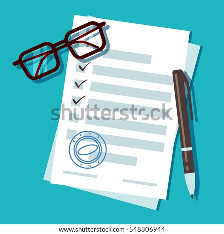 Loan application form document, mortgage vector concept