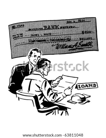Loans - Retro Clipart Illustration