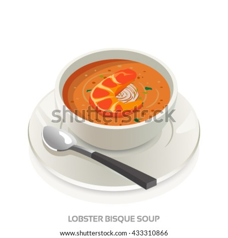 lobster bisque soup bowl french