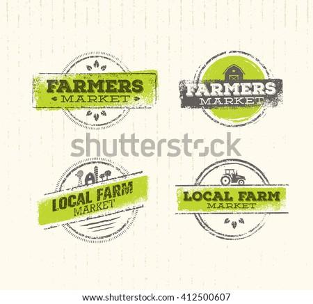 Local Farm Logo,  Local Farm Food Concept, Local Farm Creative Vector, Local Farm Design Element. Local Farm Stamp Set, Local Farm Insignia Labels, Local Farm Background, Local Farm Market Sign