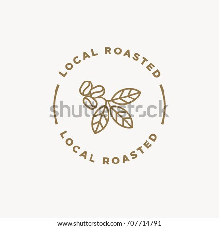 local roasted coffee badge