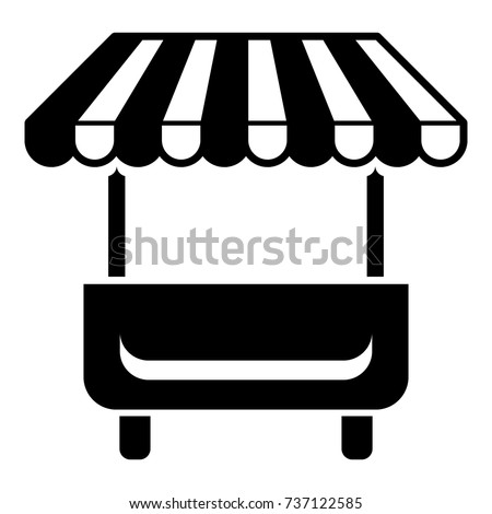 Shutterstock Local stall icon. Simple illustration of local stall vector icon for web