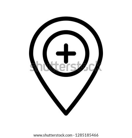location add line icon