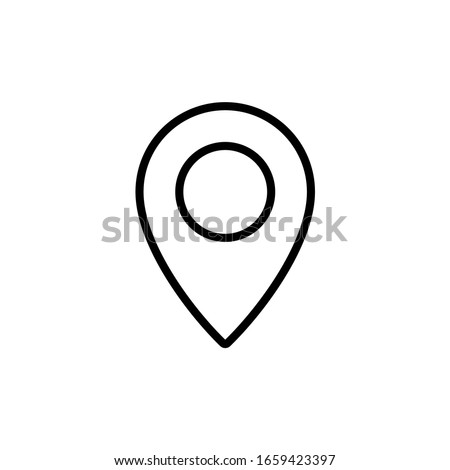 Location icon. Map pin icon with line style  Photo stock ©