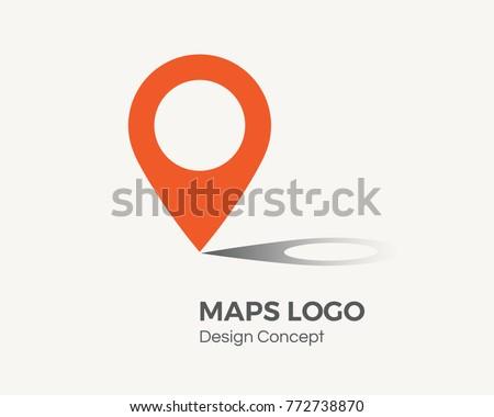 navigation pointer business logo design illustration download free