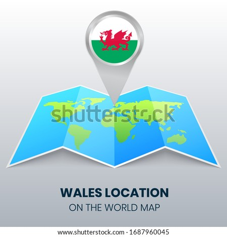 location icon of wales on the