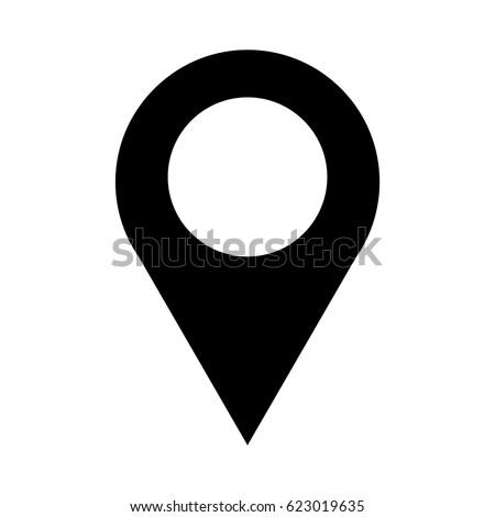 location icon  pin vector