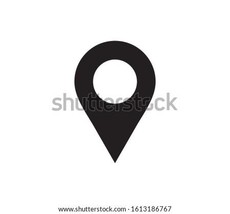 Location icon. Pointer, Map Pin, Position icon symbol illustration