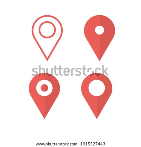 Location icon set. Set of map pointers.