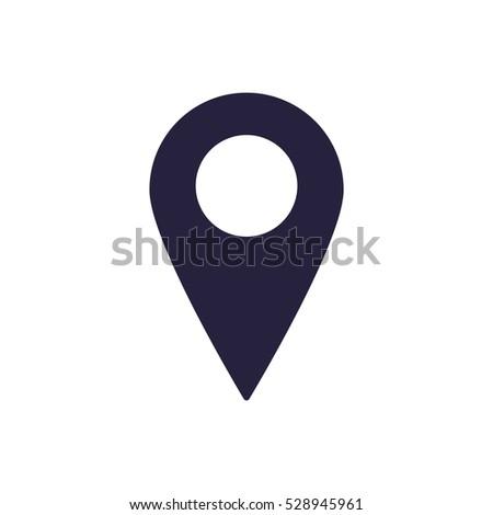 Location Icon Vector flat design style