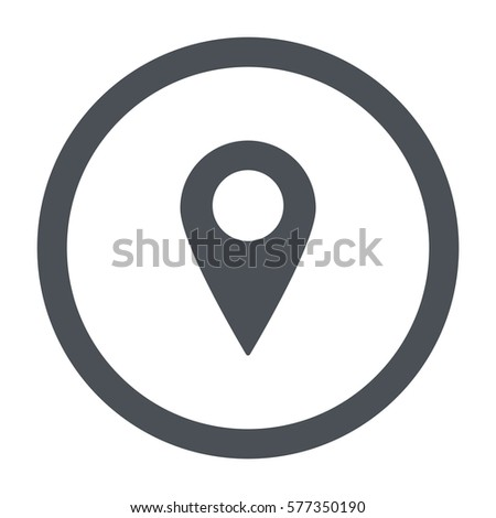 Shutterstock Location Icon Vector flat design style