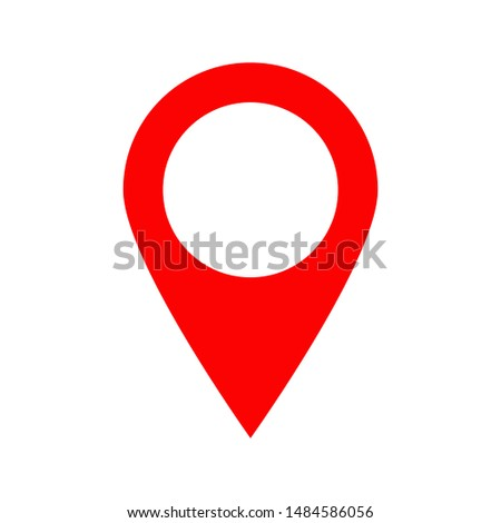 Location icon vector. Pin sign Isolated on white background.