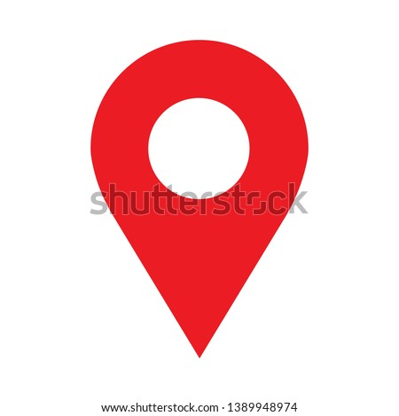 location  icon vector pin sign