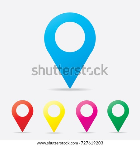 Location icon vector. Pin sign Isolated on white background. Navigation map, gps, direction, place, compass, contact, search concept. Flat style for graphic design, logo, Web, UI, mobile upp, EPS10