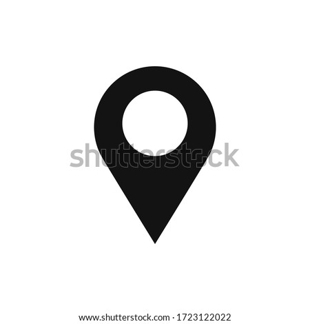 Location icon vector. Simple filled location sign Photo stock ©
