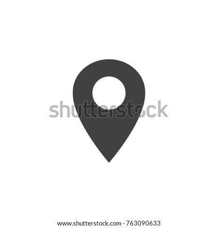 Location Icon vector, simple point place navigation