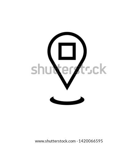 location, location pointer, map pointer, map pin in black and white series.