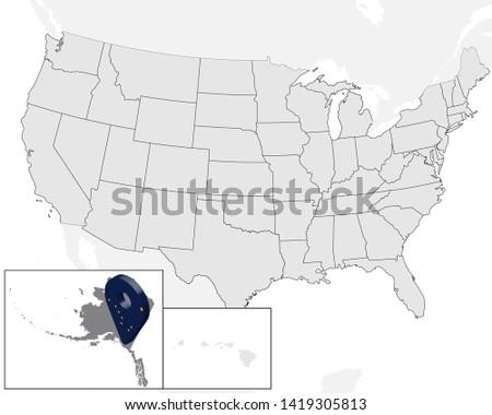 Map Of America 3d Vector.Free Vector Alaska Flag Download Free Vector Art Stock Graphics