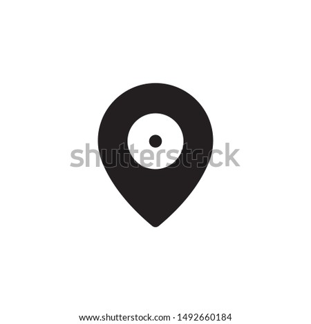 location map navigation gps flat icon vector