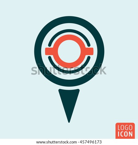 location map pin icon gps