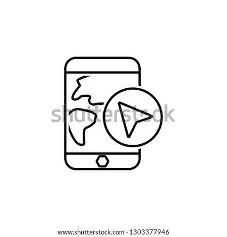 Location, mobile, map icon. Element of Web Navigation icon for mobile concept and web apps. Detailed Location, mobile, map icon can be used for web and mobile