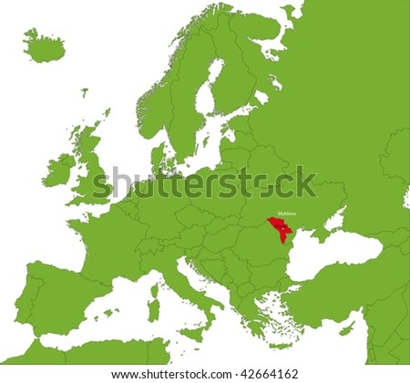 Eastern Europe Map Vector Download Free Vector Art Stock - Moldova map vector