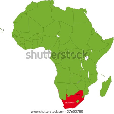 West Africa Location Location of South Africa on