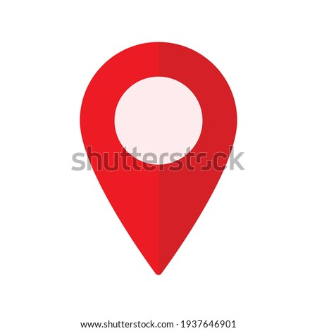 Location pin icon vector Illustration. Red Location pin icon sign. navigation icon. Photo stock ©