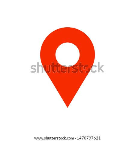 Location pin. Location icon. Vector sign. Isolated pin. Vector pin. Pin icon vector. Location sign isolated on white background.