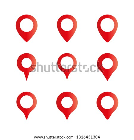 Location pin, Map pin vector icon, Red mapping pin icon, Red pins, Drop pin, GPS.