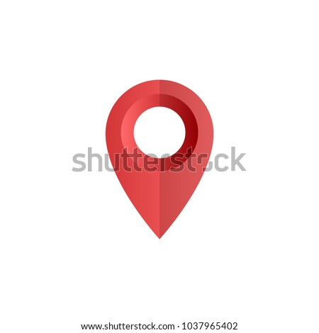 Location pin, map pointer icon
