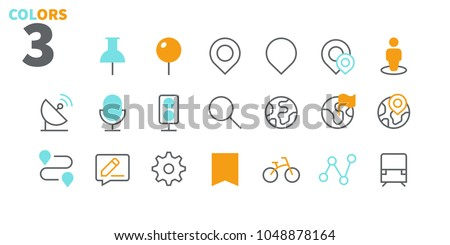 Location Pixel Perfect Well-crafted Vector Thin Line Icons 48x48 Ready for 24x24 Grid for Web Graphics and Apps. Simple Minimal Pictogram Part 1