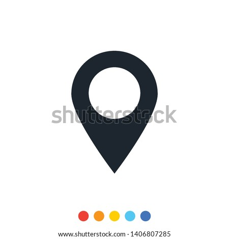Location point icon,Vector and Illustration. Stock fotó ©