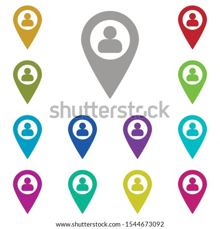 Location, profile multi color icon. Simple glyph, flat vector of location icons for ui and ux, website or mobile application