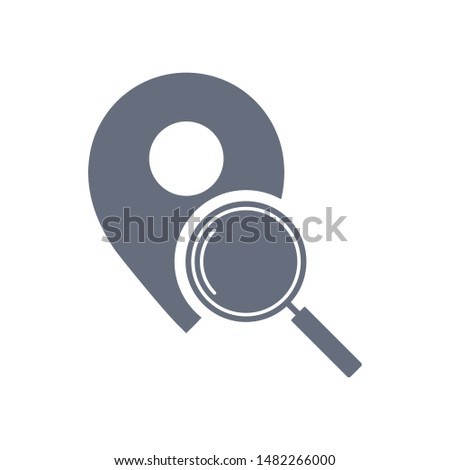 Location search icon. Magnifying glass or search icon. Search icon vector.