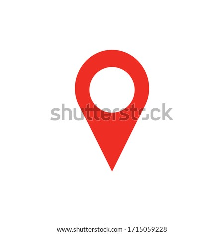 Location sign icon vector simple design