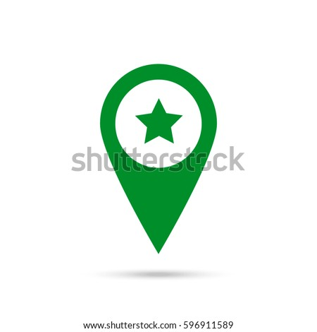 location star icon green icon