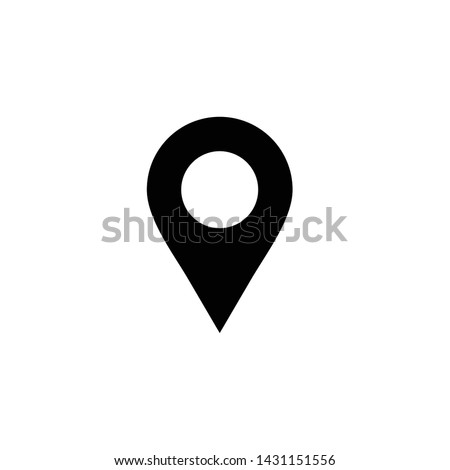 Location vector icon isolated,map pin,pin marker with flat style