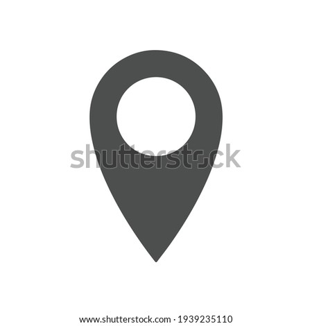 Location vector icon. Place symbol. GPS pictogram, flat vector sign isolated on white background. Simple vector illustration for graphic and web design. Photo stock ©