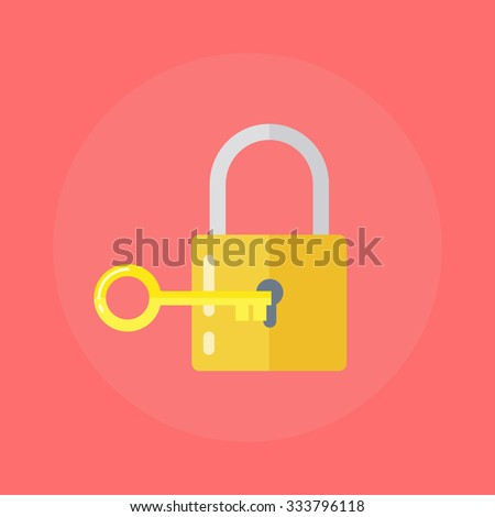 lock and key lock with key