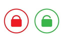 Lock and unlock easy icon vector design for business.