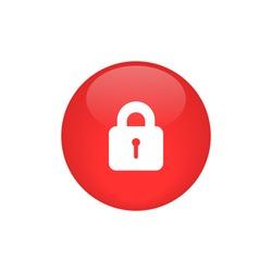 lock icon button vector