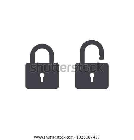 lock icon EPS10
