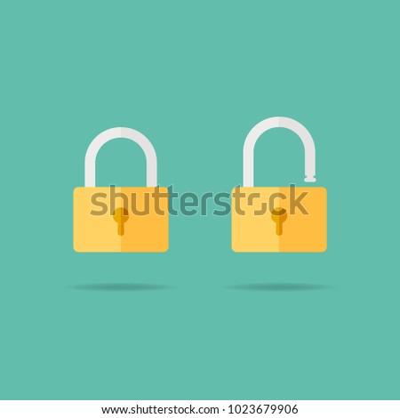 lock icon flat design